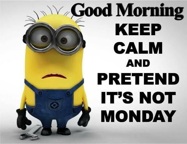 Good Morning, Keep Calm And Pretend its Not Monday