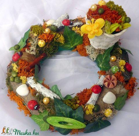 """"""" Nyári erdő """" asztali koszorú (21 cm) (pinkrose) - Meska.hu"""