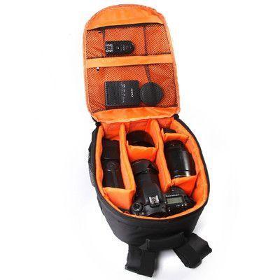 Video Photo Digital Camera Shoulders Padded Backpack Bag Case Waterproof Shockproof Small Bags for Canon Nikon DSLR IP-00