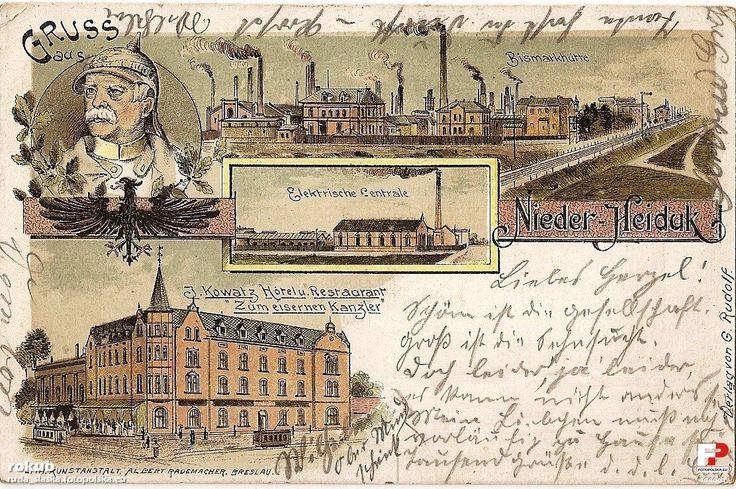 Huta Batory Sp. z o.o. (Bismarckhütte), Chorzów - 1899 rok, stare zdjęcia