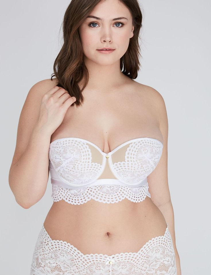Lace Longline Multi-Way Strapless Bra (original price, $58.50-$68.50) available at #Maurices