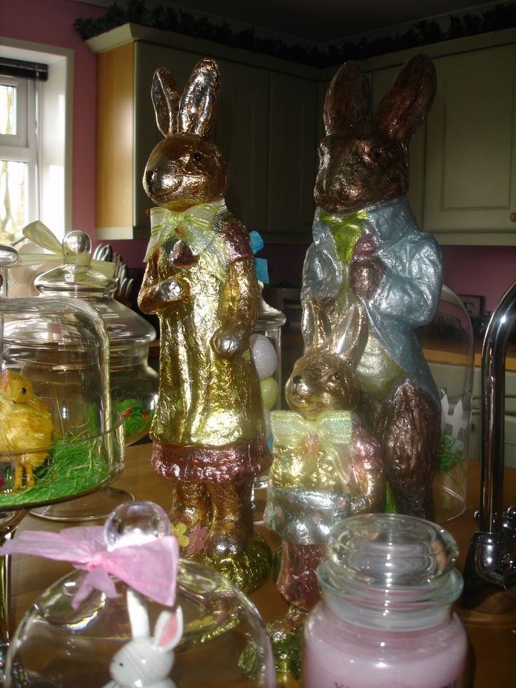 Foil Bunny Display