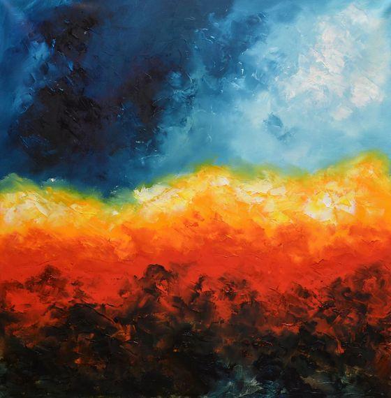 Abstract painting by Niki Katiki