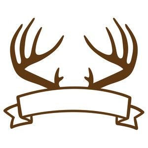 Silhouette Design Store: antlers banner
