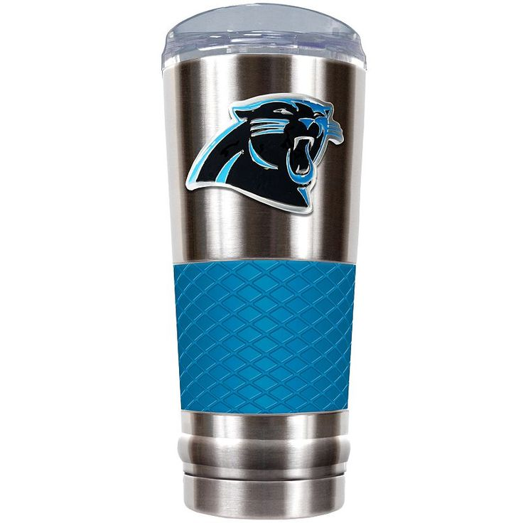 Carolina Panthers 24-Ounce Draft Stainless Steel Tumbler, Blue