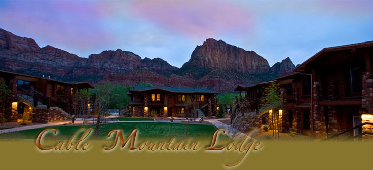 Cable Mountain Lodge in Springdale, Utah outside of Zion National Park.  Beautiful place to stay!