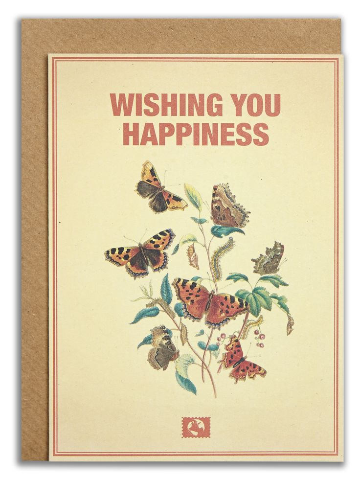 """Wishing you happiness"". #messageearth #sustainable #greetingcards #sustainability #eco #design #ecodesign #vintage #cards #peculiar"