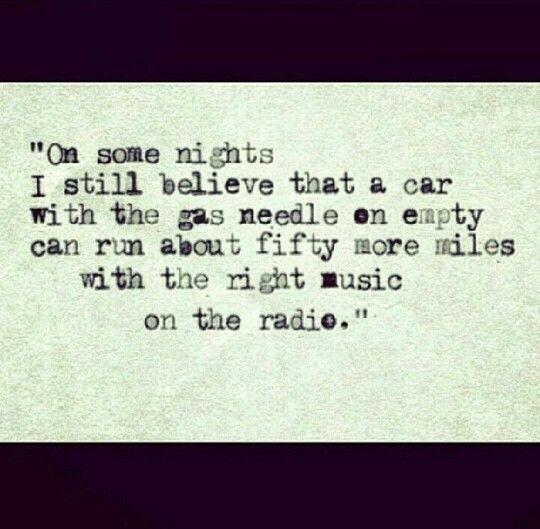 Hunter S Thompson quote. Driving, life quote, true story, music, radio
