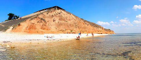 Пляж в Окуневке. Крым.