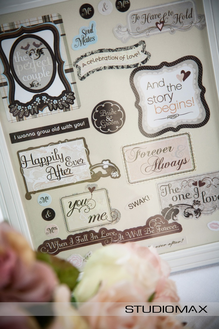 Wedding Reception Inspiration, adorable bride & groom stickers. Photography from Melbourne Wedding Photographer StudioMax