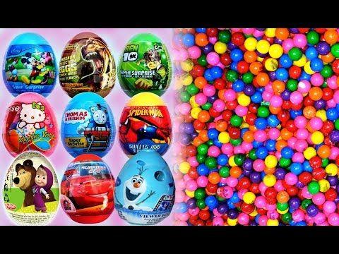 Ovetti Sorpresa Disney + Un Sacco di Caramellea♦Lot of Candy + Surprise ...