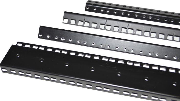 24u Steel Rack Rail Pair 3 8 Square Holes Server