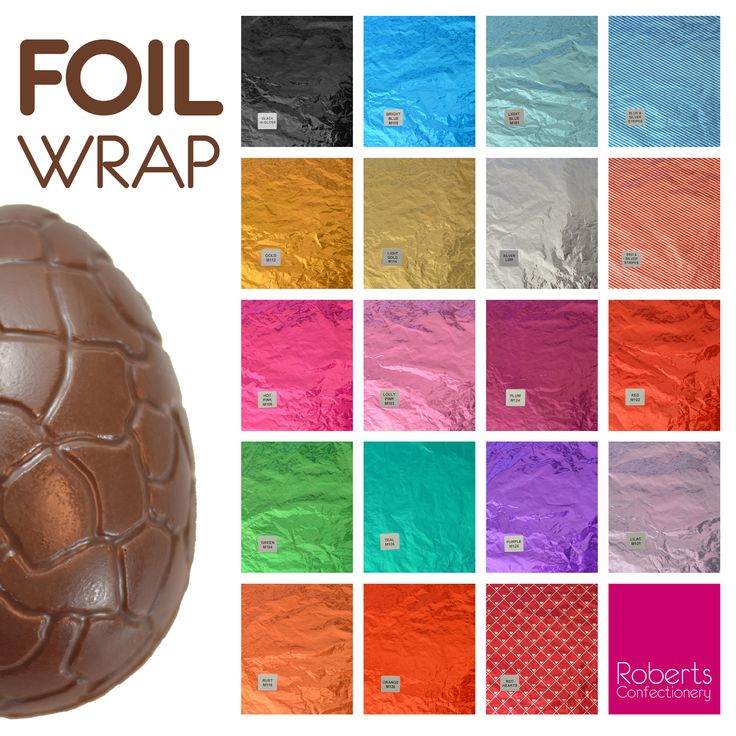 Wrap your Easter Eggs & chocolates with Foil! So many colours to choose from.