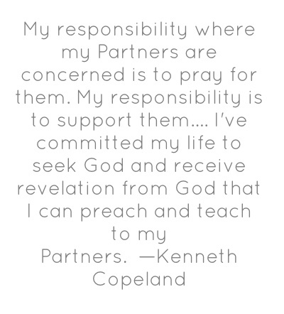 Partnership with Kenneth Copeland Ministries