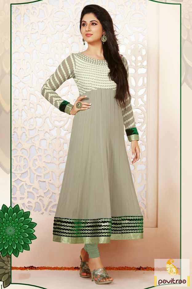 Popular TV actress Pankhuri speical grey nazneen anarkali salwar suit is available online with discount prices. Shop fashionable long frock style designer wedding wear anarkali dress in wedding and diwali season 2015-2016. #salwarsuit, #anarkalisalwarsuit, #bridalanarkalisuit, #weddingwearanarkalisuit, #newyearsalwarsuitcollection, #2016, #designerdresses, #partywear More : http://www.pavitraa.in/store/anarkali-salwar-suit/ Call / WhatsApp : +91-76982-34040  E-mail: info@pavitraa.in