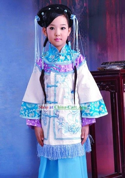 7c1d0797ea6 Traditional Chinese Clothing Complete Set for Kids