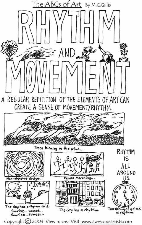 Principles Of Art Rhythm And Movement : Best art project ideas elements principles of design