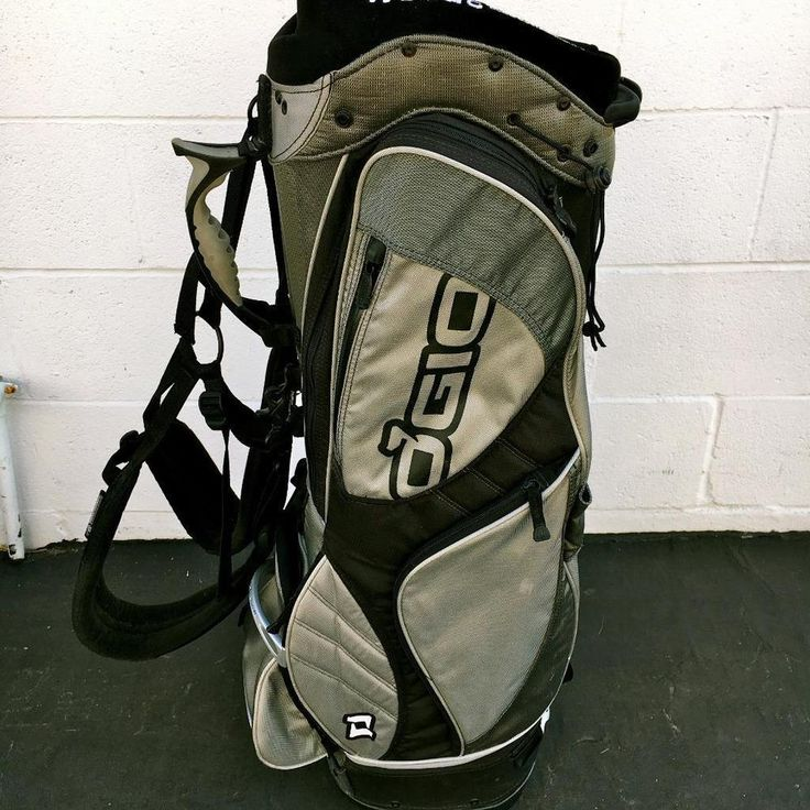 OGIO WOODS MANAGEMENT SYSTEM GOLF BAG~PADDED SHOULDER STRAPS~CART BAG ~BLK GRAY #OGIO #Modern