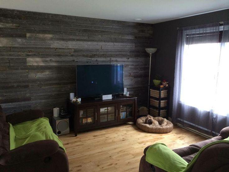 Mur en bois de grange