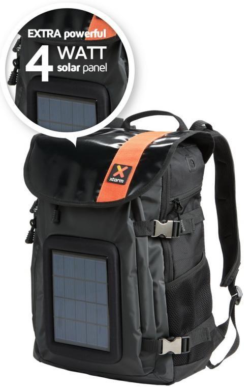 Dzięki produktowi Helios Backpack PLUS zapewnisz energię dla swoich przenośnych urządzeń bez żadnego wysiłku! Wbudowany panel solarny 4W i bank energii Xtorm 11000 w zestawie. / This stylish and practical Helios Backpack PLUS features a 4 watt solar panel that charges the removable 11000mAh Power Bank (AL360) Li-ion battery. PLN549.99 / $184
