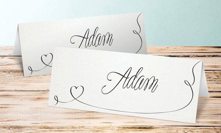 Wenn ihr Namensschilder drucken möchtet, findet ihr in unserem Kartenshop viele tolle Designs... | Inspirationen | Ideen | Tipps