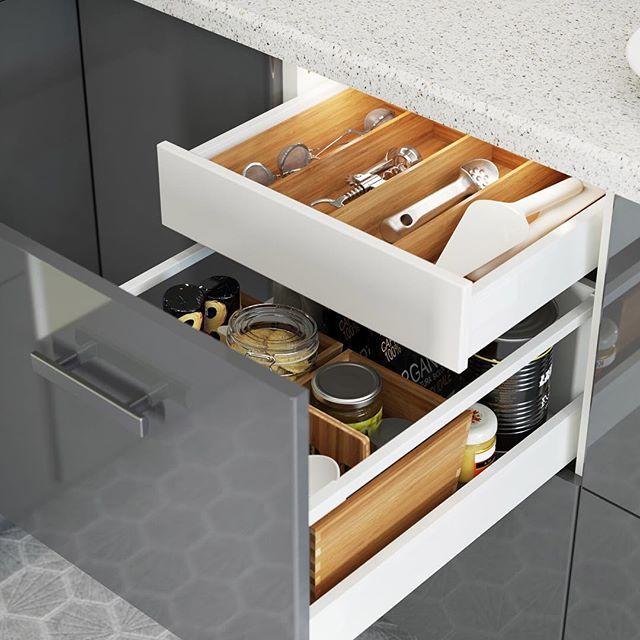 Drawer W/in A Drawer, Both W/ Drawer Organizers · Ikea StorageStorage Spaces Kitchen ...