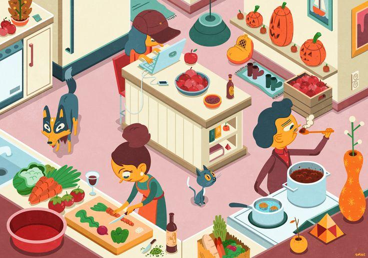 La cocina - http://cargocollective.com/scottkmacdonald