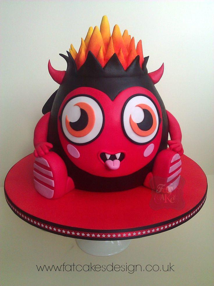 Moshi Monster cake. Diavlo cake.
