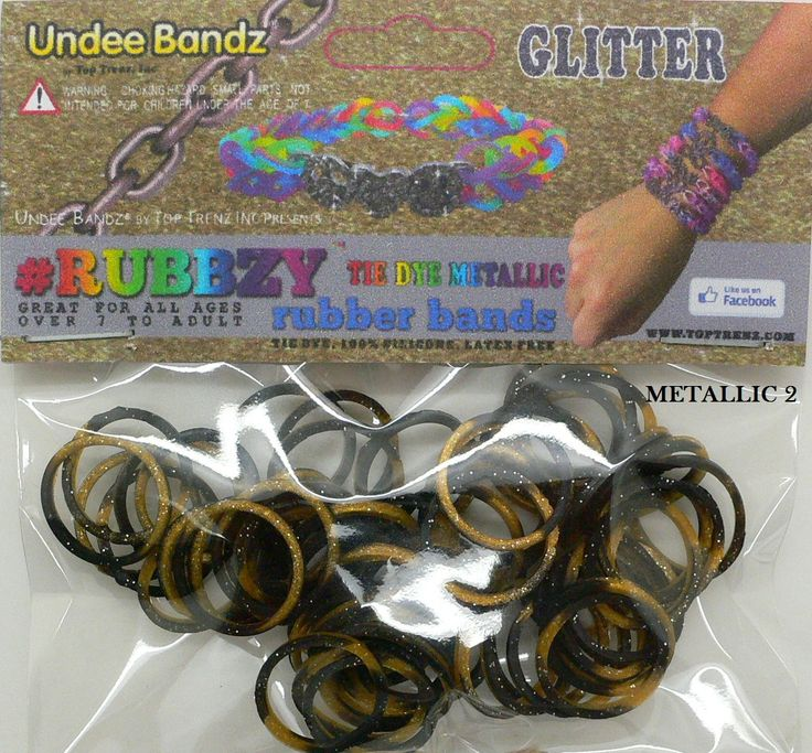 Rubbzy Tie Dye Metallic Rubber Bands Loom Bands Pinterest
