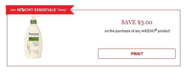 Save 5 On Any Aveeno Product Printable Coupon Aveeno