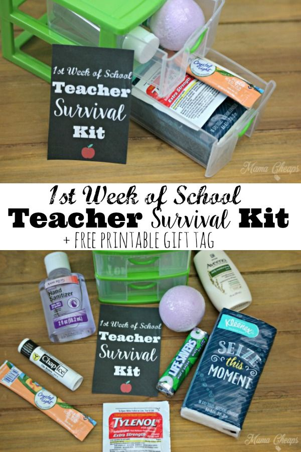 Diy Back To School Teacher Survival Kit Gift Free Printable Kids