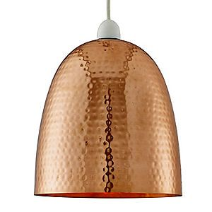 Hammered Copper Ceiling Pendant #kaleidoscope #home #trend
