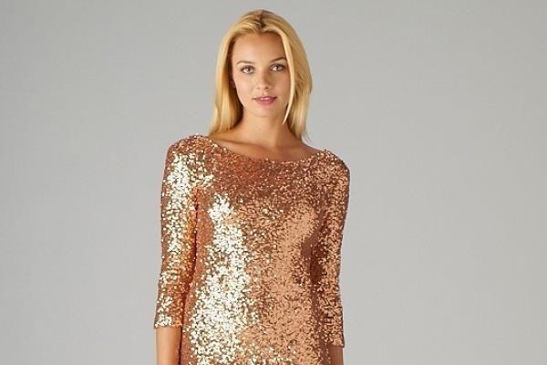 Платье с пайетками для вечеринки