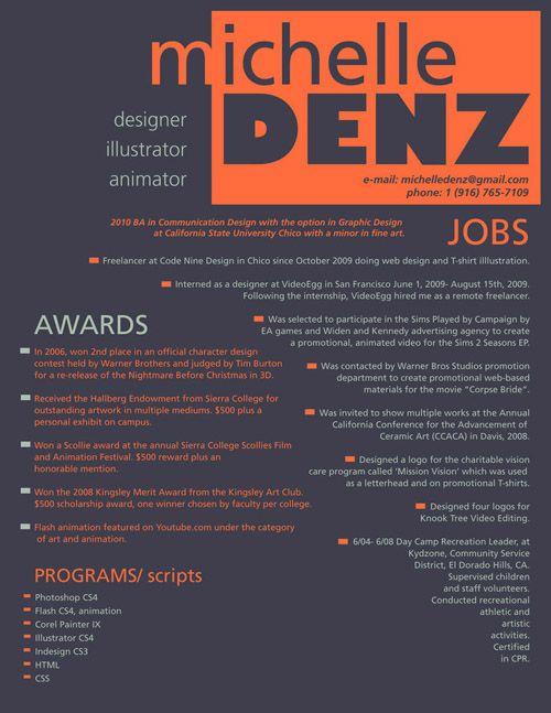 resume design sample