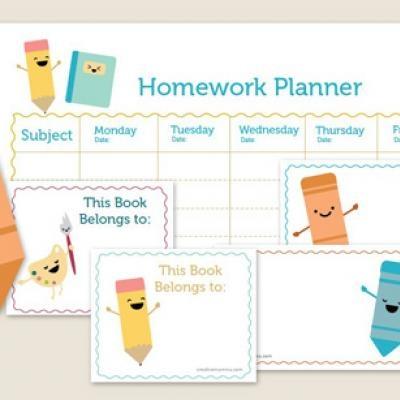 back to school #PaperMateBTS: Ideas, Back To Schools, Schools Kits, Creative Mamma, Schools Supplies, Schools Printable, Homework Planner Printable, Free Printables, Homework Planners Printable