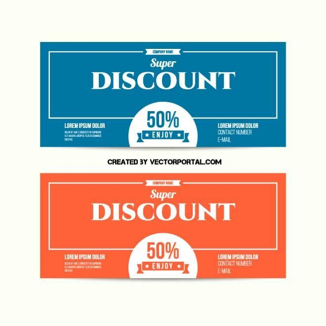 Discount coupons vector design.
