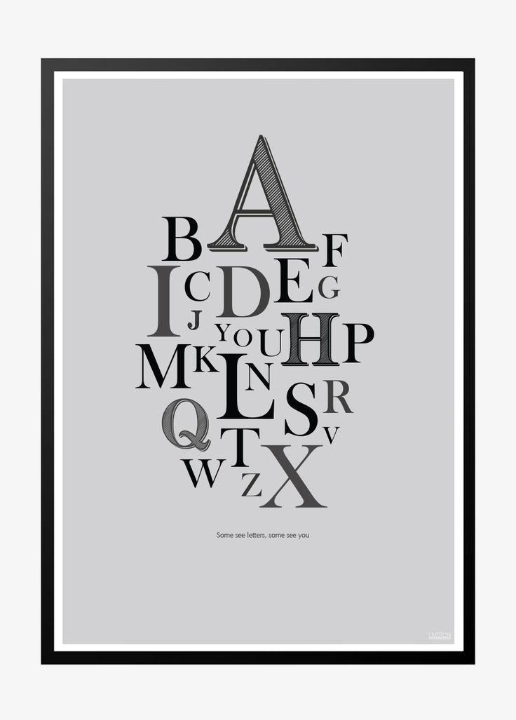 A-Z poster, gray