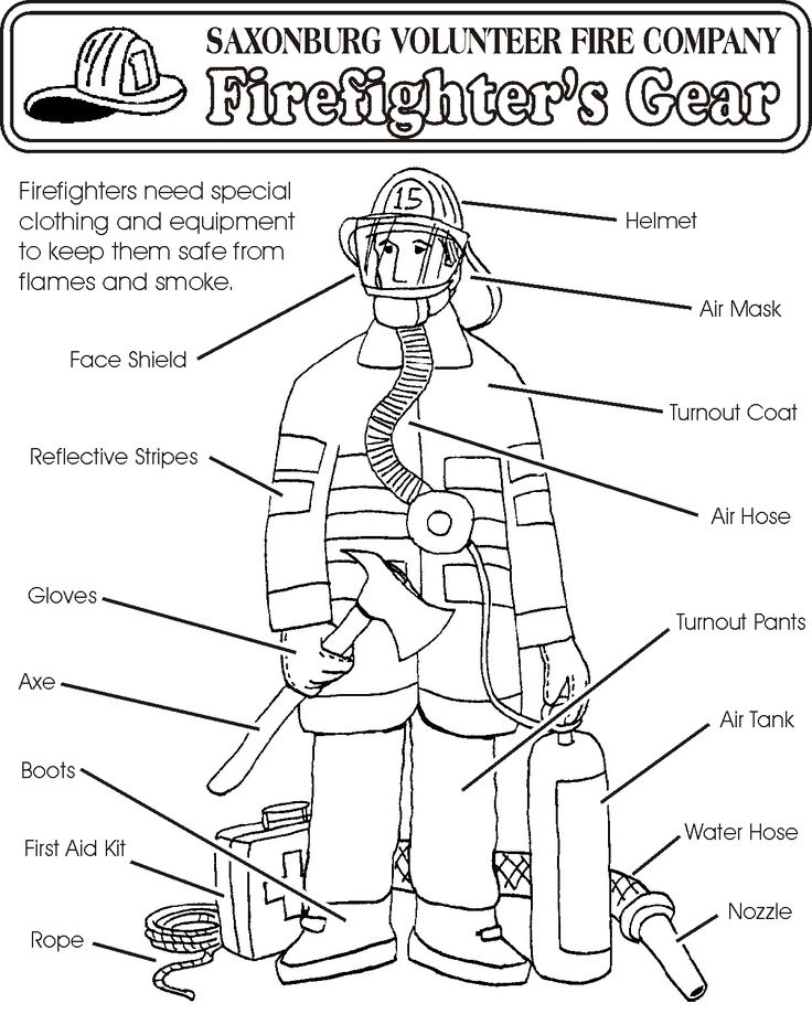 safety gear coloring pages - photo#2
