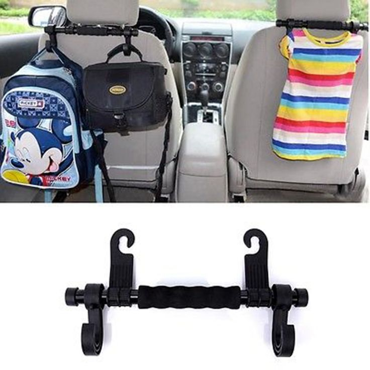 New Convenient Double Vehicle Hangers Auto Car Seat Headrest Hanger Holder Hooks For Bag Purse Cloth Grocer Interior Accessories
