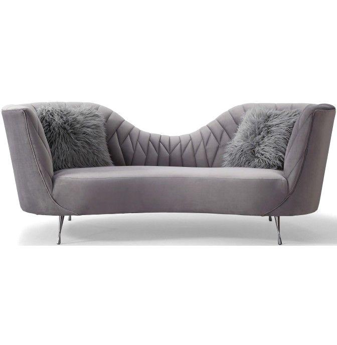 Eva Sofa Grey Grey Velvet Sofa Gray Sofa Sofa Furniture