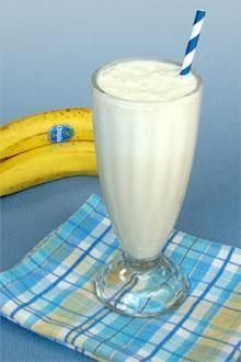 A milkshake recipe so simple your kids can make it themselves with a banana, milk and ice cubes.