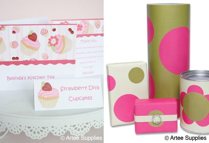 Artee Supplies – #kitchen tea #invitation #cupcakes
