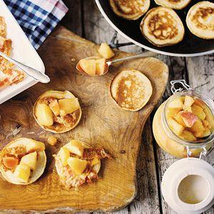 Recept - American pancakes met appelcompote en spek - Allerhande