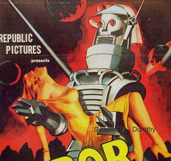 Tobor The Great 1950s Sci Fi Horror Movie Poster Full Color Advertisement Lithograph To Frame Science Fiction on Etsy, $13.89