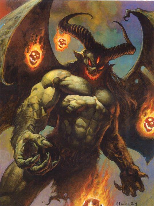 Something is. Mythological demon creatures think
