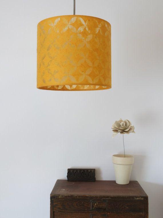 Paper-cut Petals Lampshade by LumaRoom on Etsy