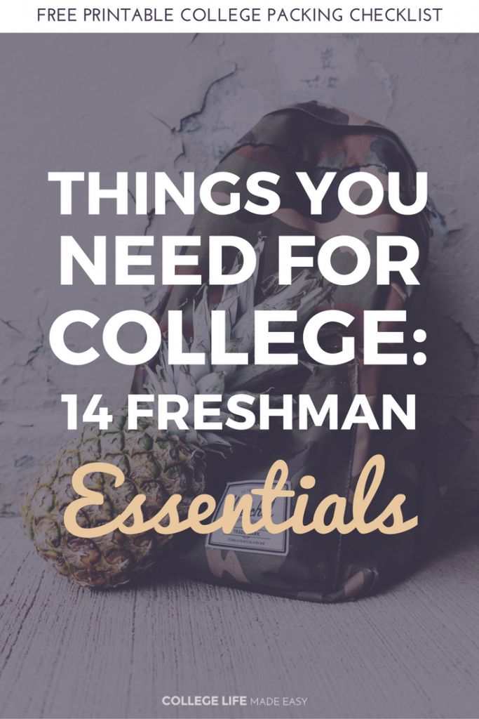 Freshman list. Not everything is important for my college and not all new ideas either but good info and reminders!