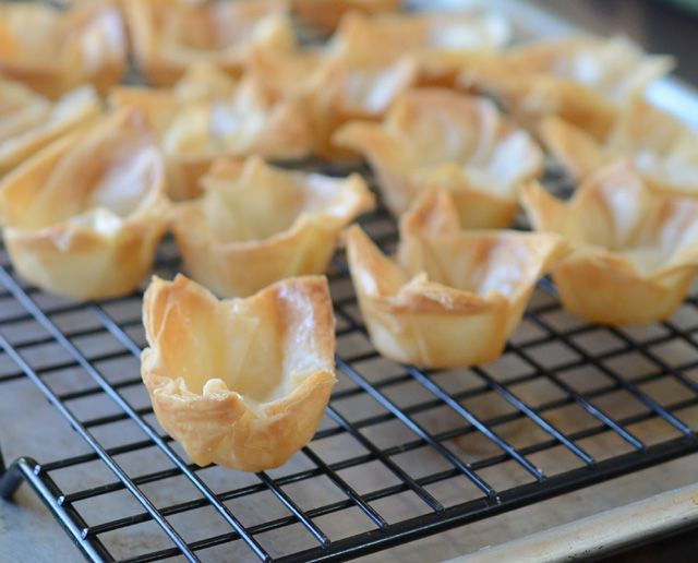 How to make phyllo cups from homemade or premade filo dough.