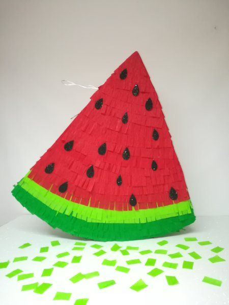 Watermelon pinata, Ready to ship watermelon, hawaian party decoration. watermelon birthday party. watermelon birthday party.
