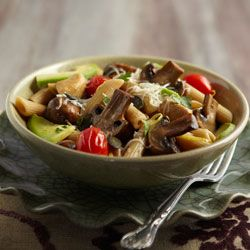Mushroom and chicken pasta